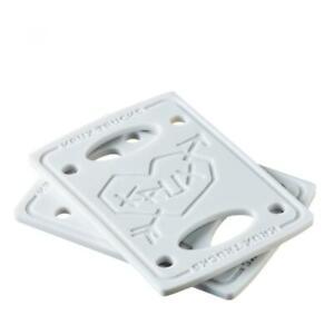 "Krux riser pads white 1/4"" or 1/8"" (pack 2) FREE J&J'S STICKER AND BADGE"