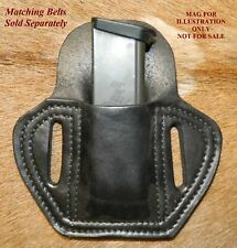 Leather MAG POUCH for 357sig /.40/ 9mm Double Stack magazine fits Sig P229 Mags