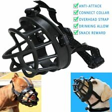 Adjustable Dog Muzzle Soft Silicone Breathable Mesh Strong Basket Small & Large