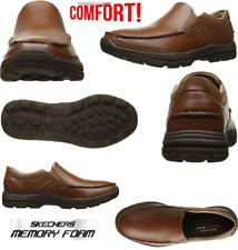 Skechers Para Hombre de cuero marrón de espuma de memoria