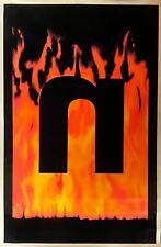 """Nine Inch Nails """"N"""" [Poster][Blacklight][Felt ][Vintage][1997]"""