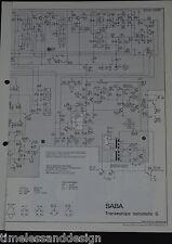 SABA Transeuropa automatic G Schaltplan Service Manual Schaltplan