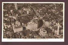 LONDON Gracechurch St Monument Aerial RP PPC