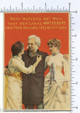 2987 Waterbury Watch trade card Victorian women A. B. & S. W. Skinner, Keene NH