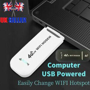 Unlocked 4G LTE WIFI Wireless USB Dongle Stick Mobile Hotspot Modem SIM Card UK