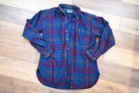 Vintage Pendleton Wool Plaid Flannel Long Sleeve Bitton Up medium