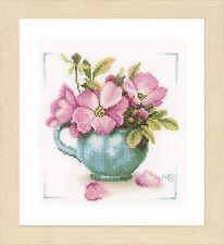 WILD Roses (EVENWEAVE): Lanarte contato CROSS STITCH KIT-pn0164070