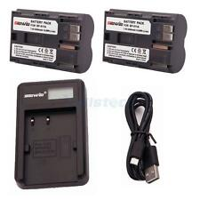 2 PACK BP-511A Battery + USB Charger for Canon 10D 20D 30D 300D 40D 50D 5D