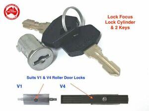 Garage Roller Door Lock Barrel With 2 Keys- for B&D, Gliderol, Lock Focus