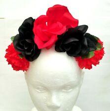Bouquet FLOWER CROWN Headpiece Hairband Wreath Wedding Frida Boho catrina Vtg