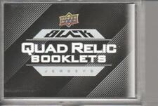 2016-17 UD Black Quad Relics #4RWJR Lipon/Morrissey/Laine/Conner