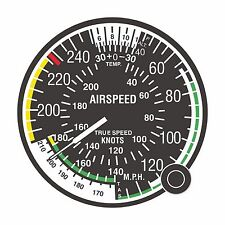 1x Sticker Airspeed indicator FAA AIR FORCE