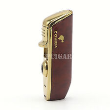COHIBA Red Cloud Pattern 3 Flames Windproof Gloss Finish Cigarette Cigar Lighter