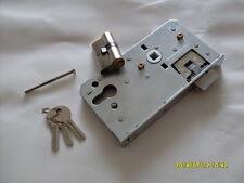 Einsteckschloss + Schließzylinder für Tor Gartentor Einfahrtstor für 30 mm Rohr