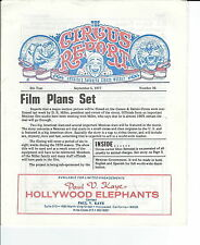 MB-055 - The Circus Report, Film Plans Set, September 5, 1977 Issue Vintage