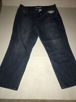 Women's Chico's Platinum Denim  Capri Jeans Size 2 Light Wash