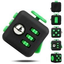 Stress Fidget Cube Multi-Functional Black Green Pack of 4