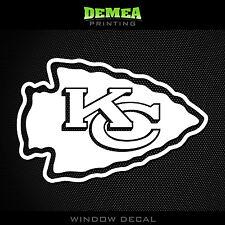 "Kansas City Chiefs NFL -  White Vinyl Sticker Decal 5"""