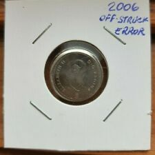 * 2006 * Canada  * Nickel * Error * 10 cent -Off-Struck