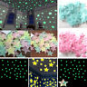 100 pcs Luminous Plastic Wall Stickers Stars Glow In The Dark Fluorescent Hot 3D