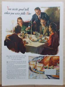 1941 magazine ad for Wine - You invite good talk when you serve folks Wine