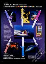 1987 Wenoka Sea Style scuba diving diver knife 6 models photo vintage print ad