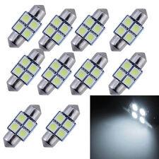 10Pcs Festoon White 27MM/28MM 5050 4SMD Dome Map Interior LED Light bulbs