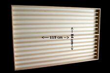 V84 - Vitrine murale 115x84x6 cm vitres en plexiglas clair meuble rangement bois