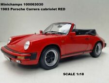Minichamps 100063030 1983 Porsche Carrera cabriolet RED 1:18