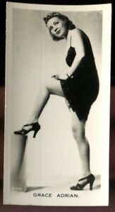 Tobacco Card, Carreras, FILM AND STAGE BEAUTIES, 1939, Grace Adrian, #39