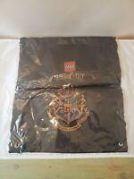 Lego Harry Potter Crest Cinch Sack Drawstring Backpack Book Bag New