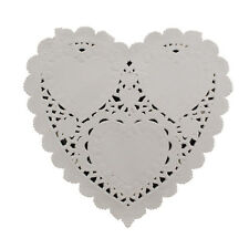 100 x Heart Cream Paper Doilies - Christmas Party Table Decoration Greaseproof