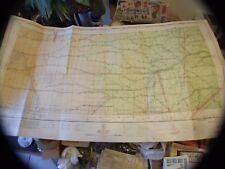 "Vintage Rare 1941 Radio Direction Finding Aeronautical Chart Map 37""X32"" Nw Usa"