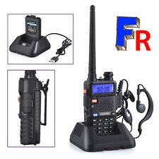 Talkie Walkie Radio bidirectionnelle UHF-U,VHF-V,U-V écran LEDChargeur USB