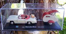 Cararama Hongwell Mercedes-Benz 190SL Cabrio w/camping trailer 1/43 scale EC