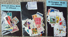 3 packets/350 different stamps- South Africa, Canada and Hungary- good selection