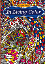 Adult Coloring Book - Designer Series - In Living Color - NEW -