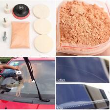 Car Windshield Glass Repair Kit Scratch Removal Set + Polish Powder Felt Wheel F