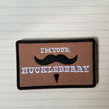 5ive Star Gear I'm Your Huckleberry Mustache Morale Hook Patch Desert Tan Badge