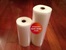 2 Rolls 1 ea. 8 x 50 & 11 x 50' 4 mil Universal Vacuum Seal Rolls Food Saver