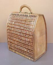 Sac mallette valise rotin osier vintage panier déco salon bag rattan wicker