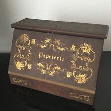 Coffret PAPETERIE Milieu XIXè 1850 Napoleon III Victorian French Letter Box 19 C