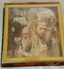 "Hobbit Lord of the Rings - White Council 12"" Square Wall Clock - New"