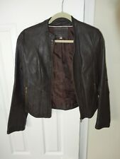 Marks and Spencer Real Leather Brown Woman's Jacket Size 12