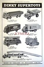 1956 Dinky Toys ADVERT Bedford 'Heinz' Van, Fire Engine etc. - Vintage Print AD