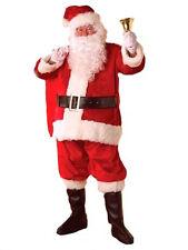 Large-XXL Traditional Father Christmas Santa Costume & Beard  Xmas Fancy Dress