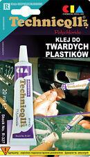 Technicqll STRONG RIGID ADHESIVE GLUE HARD PLASTIC ABS PVC PIPES GLASS PCV