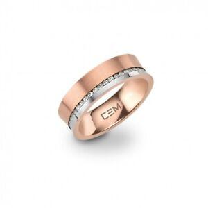 CEM Titan Ring Gr. 52 Damen Schmuck roségold-farbig Zirkonia Mehrsteiner CT6-156