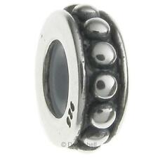 Sterling Silver Stopper With Rubber Dots Round Bead For European Charm Bracelets