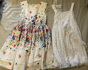 Two Girls Summer Dresses From Next & John Lewis Size 7yrs
